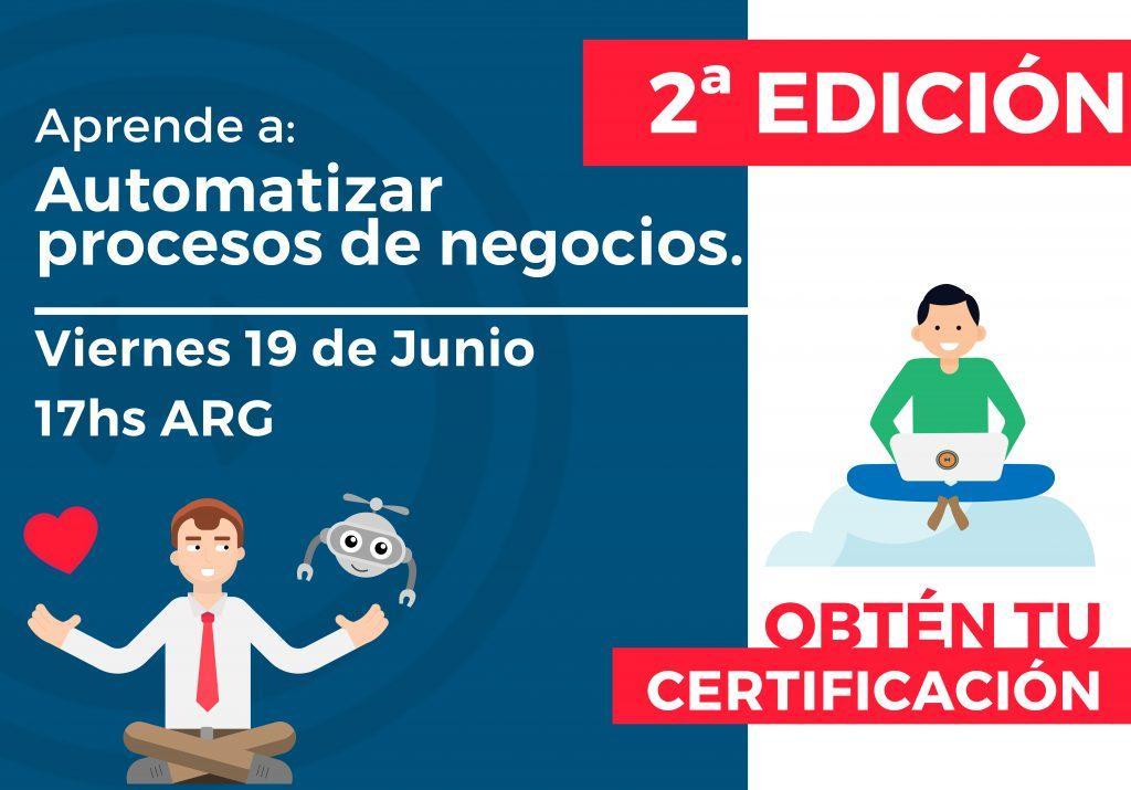 #2- Capacitación: Aprende a automatizar procesos de Negocios