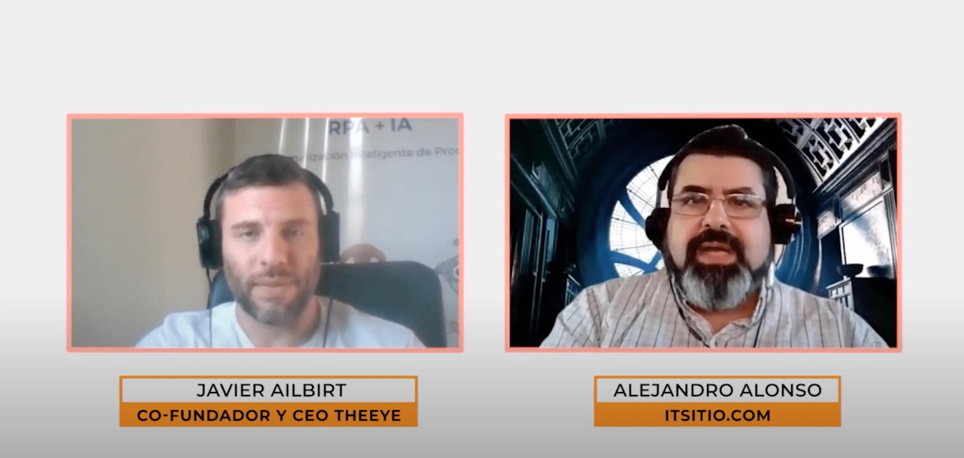 Javier Ailbirt Co-Fundador y CEO de TheEye entrevista por Alejandro Alonso de ITSitio.com
