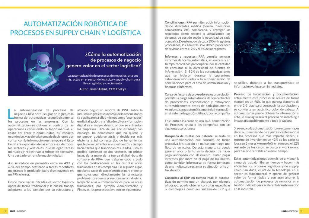 Automatización robótica de procesos en supply chain y logística